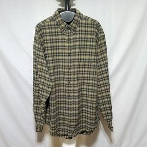 100% Cotton Arrow Khakis Plaid Button Down Shirt